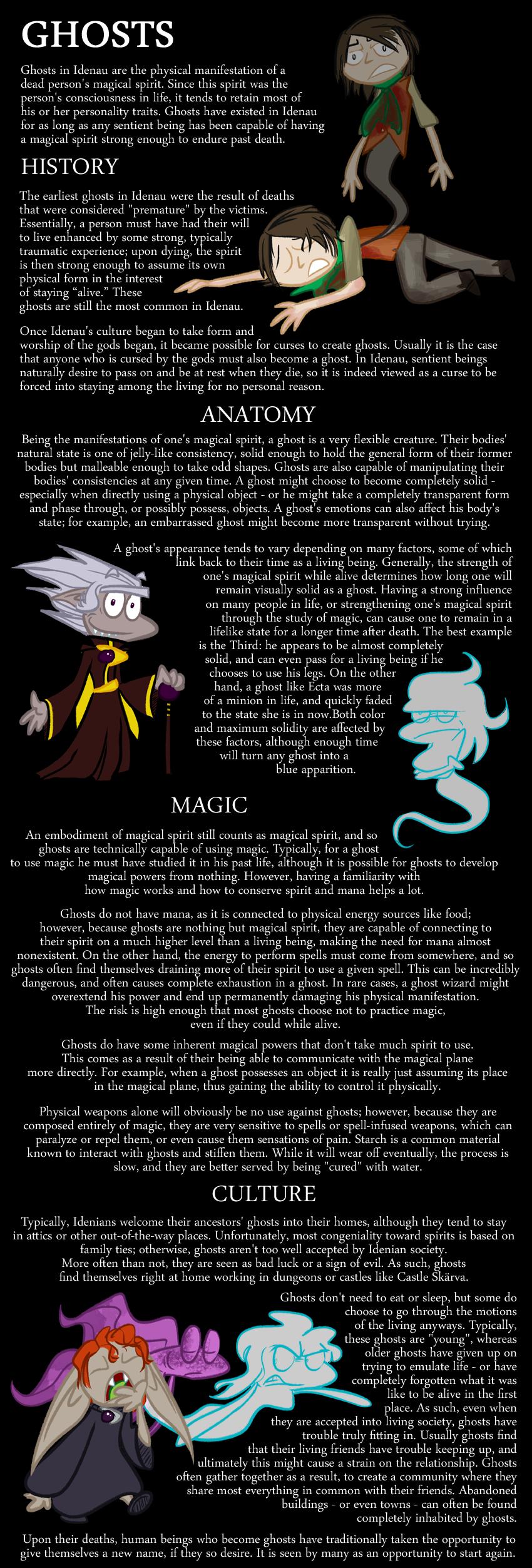 Encyclopedia of Idenau: Ghosts