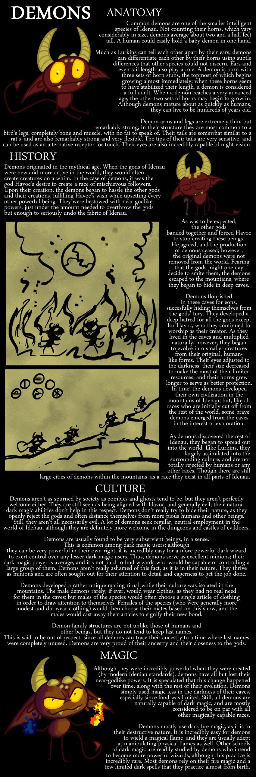 Encyclopedia of Idenau: Demons
