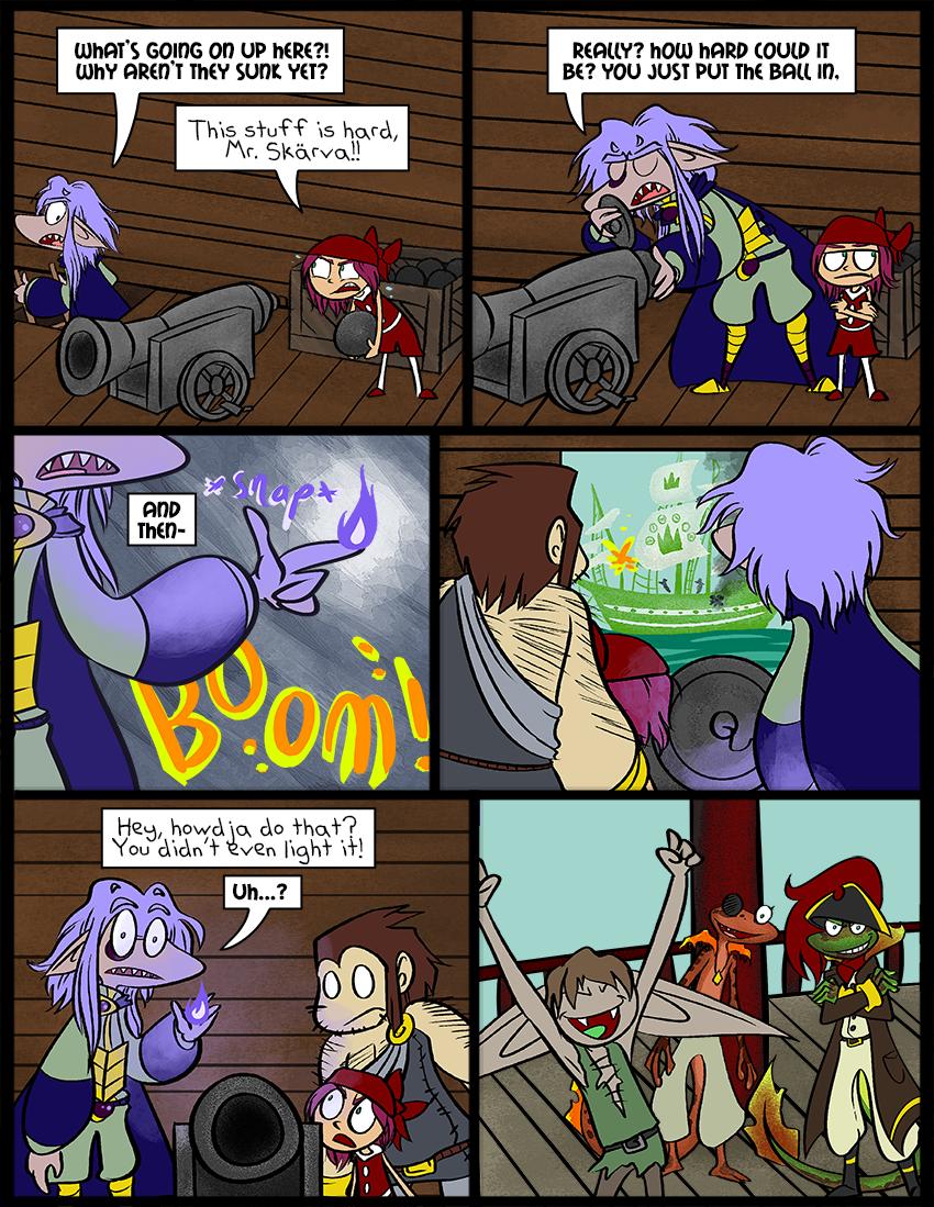 Lorelei begins her pirate metamorphosis