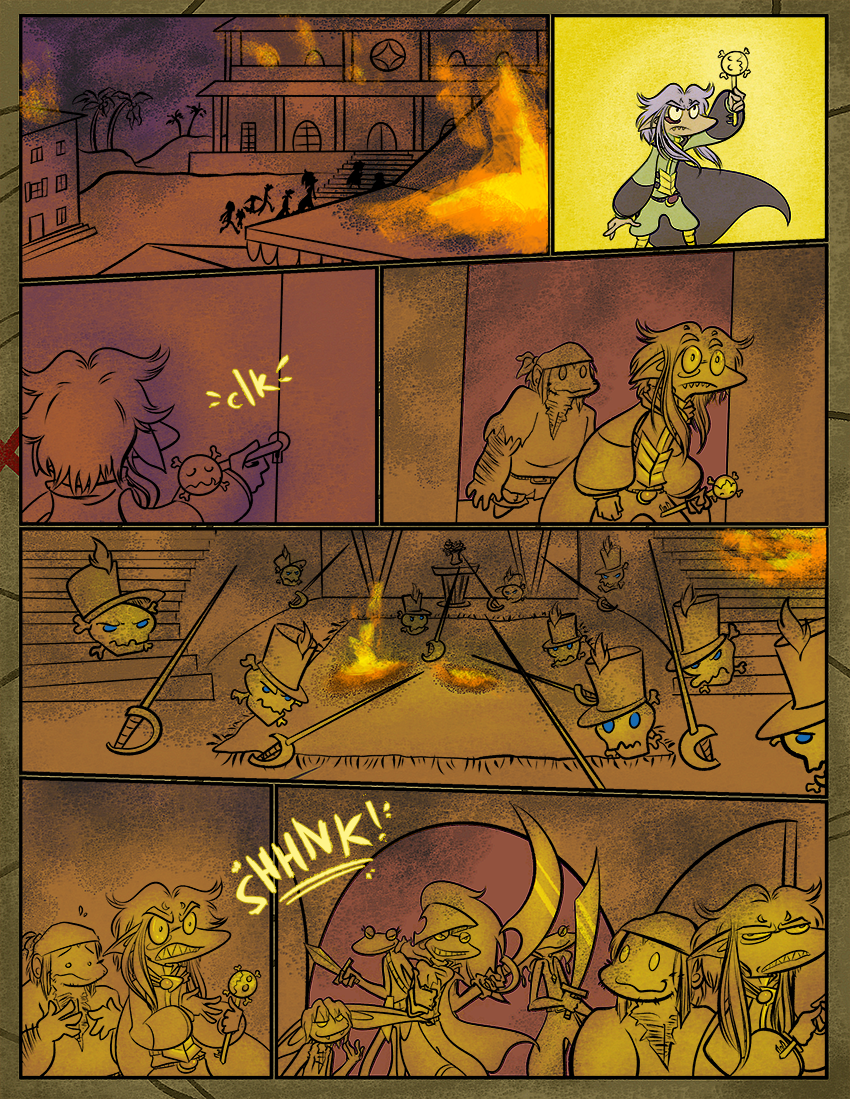 A quiet comic