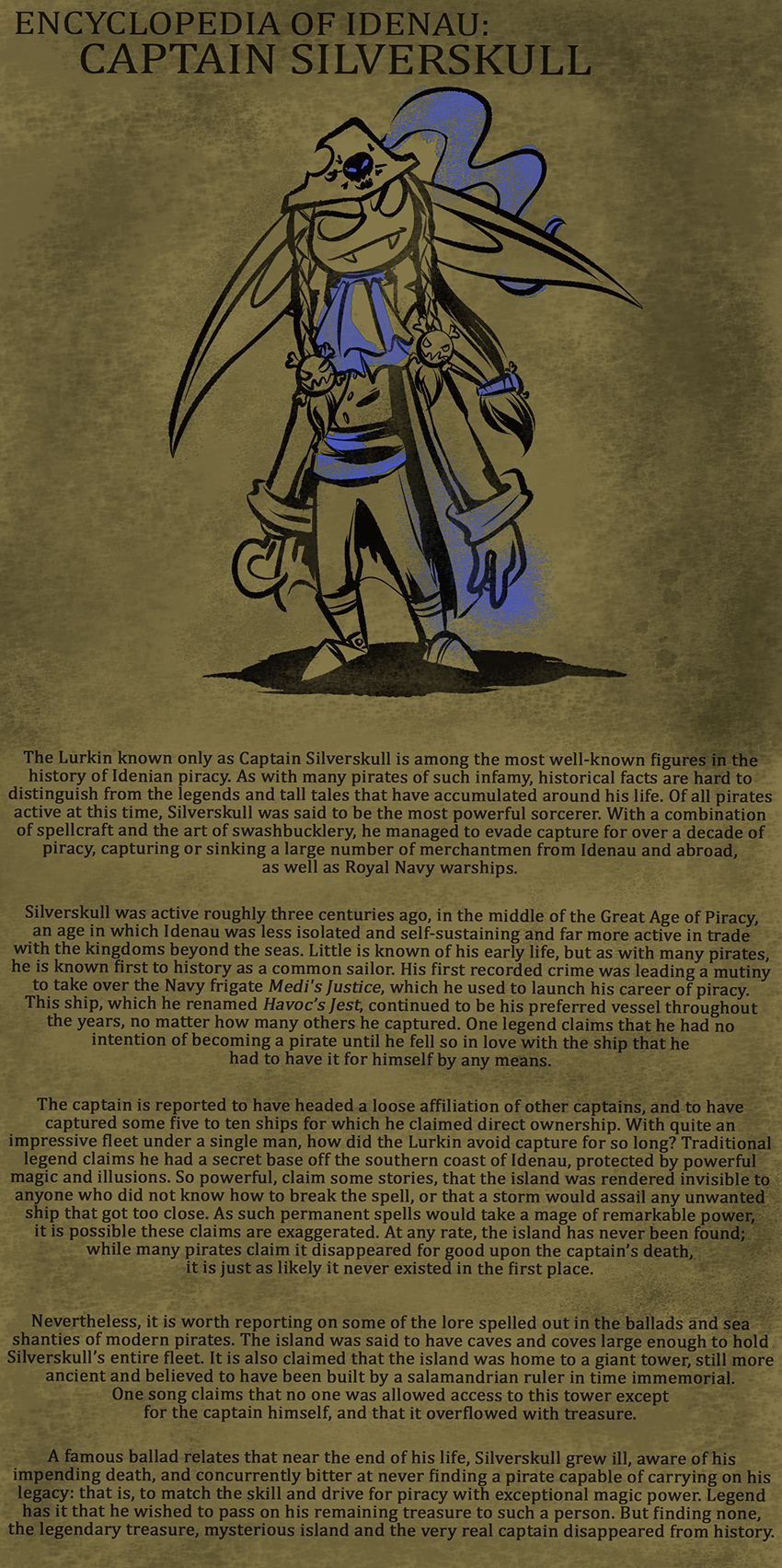 Encyclopedia of Idenau: Captain Silverskull
